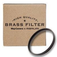 《新品アクセサリー》MapCamera×marumiBRASSFILTER77mmブラック【真鍮枠プロテクトフィルター】