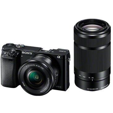 《新品》 SONY(ソニー) α6000ダブルズームレンズキット ILCE-6000Y B ブラック 【¥10,000-キャッシュバック対象】[ ミラーレス一眼カメラ   デジタル一眼カメラ   デジタルカメラ ]【KK9N0D18P】