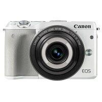 《新品》Canon(キヤノン)EOSM3クリエイティブマクロレンズキットホワイト[ミラーレス一眼カメラ|デジタル一眼カメラ|デジタルカメラ]【CreativeMacro/マクロレンズで1/100の世界を遊ぼうキャンペーン対象】発売予定日:2016年7月下旬