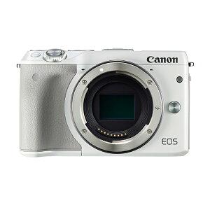《新品》 Canon (キヤノン) EOS M3 ボディ ホワイト 【¥3,000-キャッシュ…