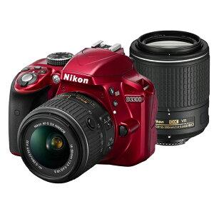 《新品》 Nikon (ニコン) D3300 ダブルズームキット2 レッド[ デジタル一眼レフ…