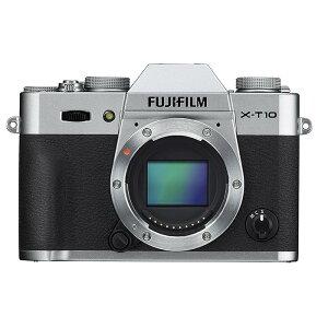 《新品》 FUJIFILM(フジフイルム) X-T10 ボディ シルバー[ ミラーレス一眼カメ…