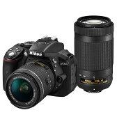 《新品》 Nikon(ニコン) D5300 AF-P ダブルズームキット ブラック [ デジタル一眼レフカメラ   デジタル一眼カメラ   デジタルカメラ ]【KK9N0D18P】