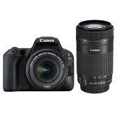 《新品》 Canon(キヤノン) EOS Kiss X9 ダブルズームキット ブラック【お出かけキャンペーン対象】【&EFレンズキャンペーン対象】[ デジタル一眼レフカメラ | デジタル一眼カメラ | デジタルカメラ ]【KK9N0D18P】
