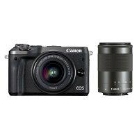 《新品》Canon(キヤノン)EOSM6ダブルズームキットブラック[ミラーレス一眼カメラ デジタル一眼カメラ デジタルカメラ]【KK9N0D18P】発売予定日:2017年4月上旬【EOSM6デビューキャンペーン対象】