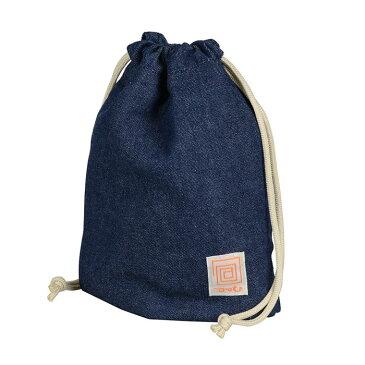 《新品アクセサリー》 Kenko (ケンコー) 「包」 巾着ポーチ デニム【KK9N0D18P】