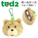 TED テッド ゴルフ キャラクター ボールケース 2個用 C-123 ゴルフ用品 ボールポーチ ゴルフコンペ 景品 プレゼント