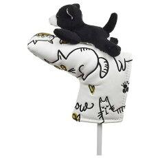 【送料無料】ネコパターカバーピンタイプWHC1766ゴルフ用品アニマル動物かわいい猫
