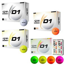 【2020年新モデル】【1ダース送料無料】ゴルフボール本間ゴルフボールD1ゴルフ用品HONMAホンマ
