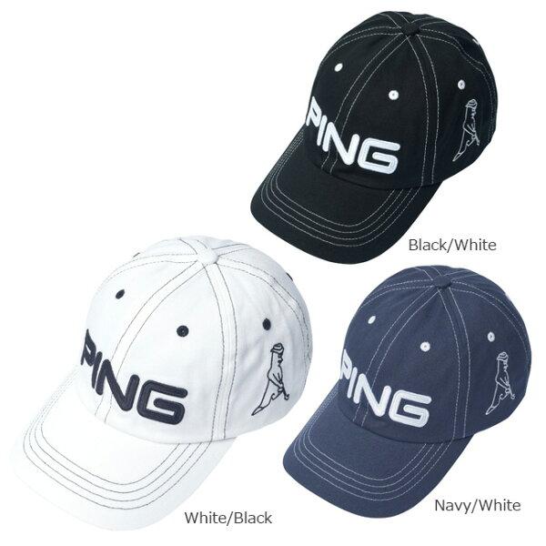 PINGピンコットンアンストラクチャー6パネルキャップMr.PINGメンズ日本正規品ゴルフ用品帽子ゴルフキャップピンゴルフ