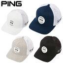 PING ピン ストラクチャー 6パネル メッシュキャップ フレックス フィット サークルパッチ 33957 日本正規品 / ゴルフ用品 帽子 ゴルフキャップ