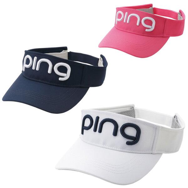PINGピンレディースツアーバイザーHW-L202日本正規品ゴルフ用品帽子ゴルフキャップサンバイザーピンゴルフ