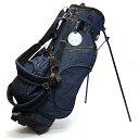 【予約販売/4月下旬頃発送分】 19ゴルフ デニム キャディバッグ スタンドバッグ インディゴブルー 8.5型 ゴルフ用品 おしゃれ 可愛い メンズ レディース・・・