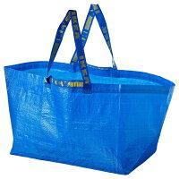 IKEAイケアFRAKTAキャリーバッグLブルーショッピングバッグエコバッグメール便送料無料ポイント消化