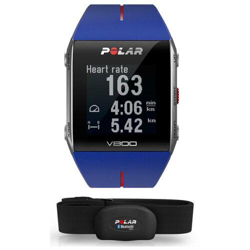 POLAR(ポラール)V800HR心拍センサー付GPSマルチスポーツウォッチブルー【自転車】