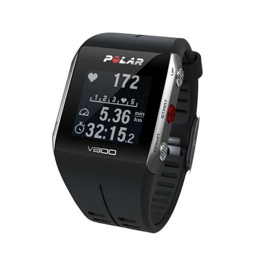 POLAR(ポラール)V800HR心拍センサー付GPSマルチスポーツウォッチブラック/グレー【自転車】