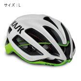 KASK(カスク) PROTONE ホワイト/ライム サイズL ヘルメット 【自転車】
