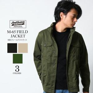 REALCONTENTS ミリタリージャケット M-65 ストレッチツイル フィールドジャケット メンズ カーキ ベージュ 黒 ブラック 軍物 リアルコンテンツ