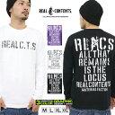 REALCONTENTS ロンT メンズ 長袖 Tシャツ ロングTシャツ リアルコンテンツ 大きいサイズ B系 ブランド 人気 アメカジ ストリート系 ファッション おしゃれ かっこいい /3045/ rclt1221
