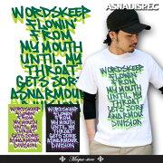 Tシャツ アスナディスペック ASNADISPEC ブラック ホワイト プリント ブランド ストリート ファッション おしゃれ