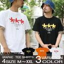 Tシャツ メンズ 半袖 ティーシャツ アスナディスペック アスナ ASNADISPEC M L XL XXL黒 ブラック 白 ホワイト プリント ブランド 人気 アメカジ ストリート系 ファッション おしゃれ かっこいい /3045/ asst2236