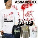 ASNADISPEC ロンT メンズ 長袖 Tシャツ ロングTシャツ アスナディスペック アスナ プリント 大きいサイズ ブランド 人気 アメカジ ストリート系 おしゃれ かっこいい /3045/ as-w-lst02