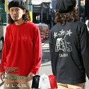CONFUSE ロンT メンズ プリント 長袖 Tシャツ アメカジ ワーク cflt2918sb /3045/