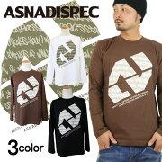 Tシャツ ロンティー アスナディスペック ASNADISPEC ブラック ホワイト プリント ブランド ストリート ファッション おしゃれ