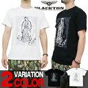 Tシャツ メンズ 半袖 ティーシャツ ブラクトン マリア XL XXL 2XL 3L 黒 ブラック 白 ホワイト プリント 大きいサイズ ワーク ルード系 ブランド 人気 アメカジ ストリート系 おしゃれ かっこいい /3045/ btst0039