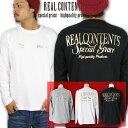 REALCONTENTS ロンT メンズ 長袖 Tシャツ ロングTシャツ リアルコンテンツ リアコン 箔プリント 大きいサイズ ブランド 人気 アメカジ ストリート おしゃれ かっこいい /3045/ rclt1203