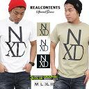 Tシャツ メンズ 半袖 ティーシャツ TEE リアルコンテンツ XL XXL 2XL 3L 黒 ブラック 白 ホワイト プリント 大きいサイズ ブランド 人気 アメカジ ストリート系 ファッション おしゃれ かっこいい /3045/ rcst1245