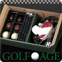 【送料無料】【【GOLF AGE】チョコドリ(L)【父の日】【お父さんに♪】ゴルフコンペに!ゴルフボール型チョコレート ゴルフクラブ型マドラー付き バレンタイン チョコレート 俺チョコ おもしろチョコ 義理チョコ