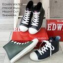 EDWIN エドウィン ハイカット レインスニーカー ランキング1位♪ 防水 撥水 レインシューズ レインブーツ 靴 レディース レースアップ 靴紐 かっこいい 歩きやすい ブランド 正規品 幅広 3E 人気