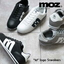 MOZ モズ 「m」ロゴ ナイロン レースアップ スニーカー