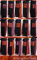 ブラックベースに★タテラインのモン族刺繍!おしゃれタイパンツ♪|アジアンファッション|エスニックファッション|サルエルパンツ|アジアン雑貨|レディース|メンズ|大きいサイズ|5,400円以上送料無料|サンダル|父の日|ワンピース|リュック|カーディガン|マーライ|