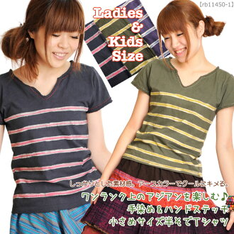 ★ 20% ★ T shirts enjoy the Asian kids ' notch! M @K0304 hand dyed & hand stitch small size short-sleeved T shirt | Short Sleeve T shirts and other | fs3gm
