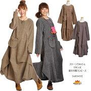 ワンピース ストーンウォッシュ アジアン ファッション エスニック