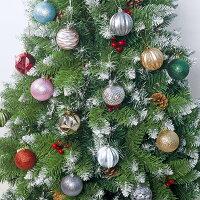 クリスマスオーナメントボール36個セットボール直径5.5cm欧米おしゃれ装飾飾りディスプレイMerryHouseレッドピンクゴールドスカイブルーグリーン