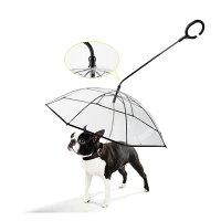 ペット用傘猫用傘犬用傘キャットドッグペット用品レイングッズアンブレラ犬用傘雨具透明雨の日に散歩リード接続チェーン付き超撥水風邪防止雪を降る時用猫用小型犬中型犬