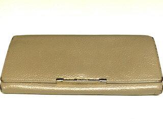 ウンガロ 財布 財布 レザー ベージュ [BCランク品]【中古】