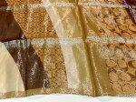 LouisVuittonscarfルイヴィトンスカーフsilk100%lady's●ストール/スカーフレディース/ファッションヴィトンスカール●ブラック×ベージュ系モノグラム柄【中古】[Aランク]送料無料