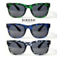 DIROSH/ディロッシュ/カモフラ柄ウェリントンサングラス/迷彩/UVカット/セル