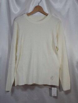 白いセーター男女兼用3L