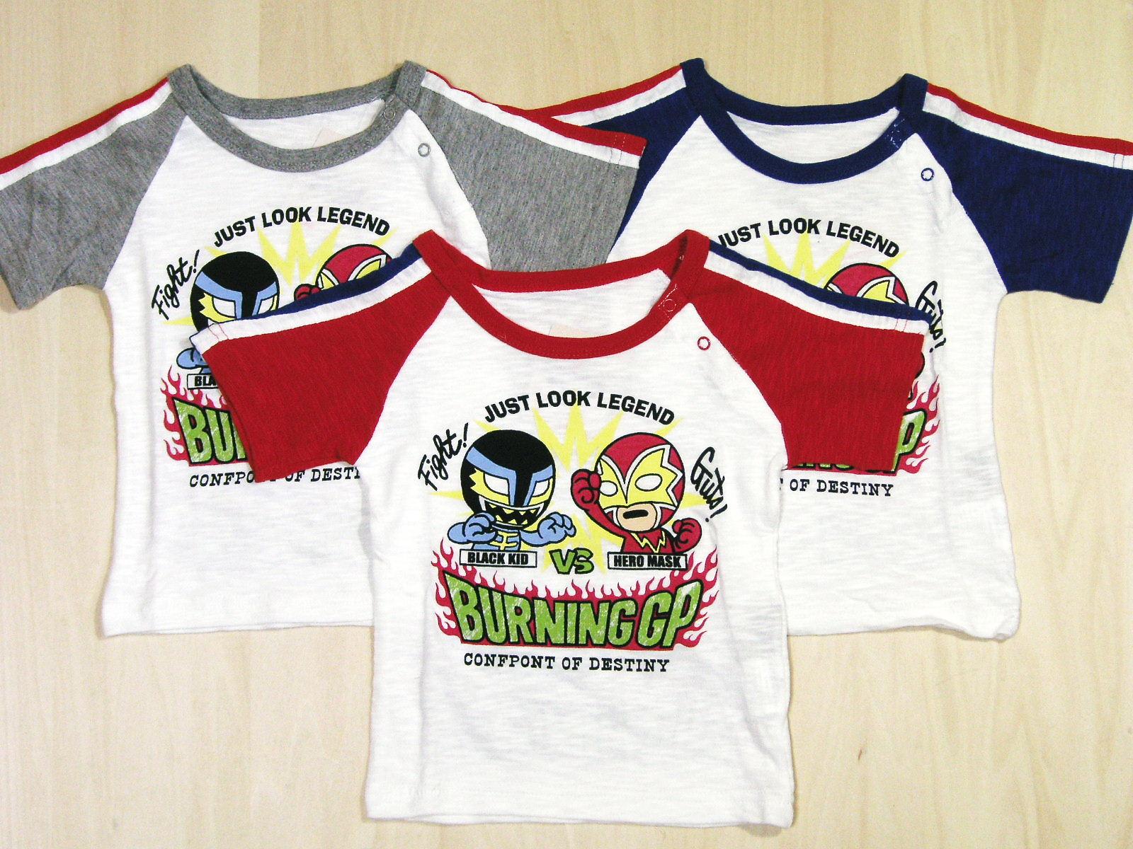 BURNING GP がんばれ!ヒーローマスクTシャツ!画像