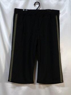 ★大きいサイズ★ジャージハーフパンツ!黒(3L・4L・5L・6L)