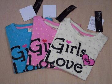 女の子の長袖プリントTシャツ♪110・120cm