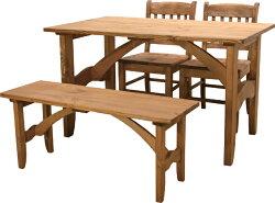 CFS-512フォレダイニングテーブル(1個4才)・CFS-513フォレベンチ(1個1才)・CFS-510フォレチェア2脚(1個8才※2脚1梱)