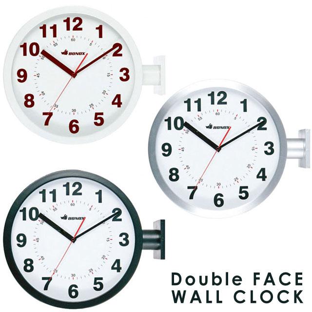 壁掛け時計 掛け時計 ダルトン DULTON コンパクト 時計 とけい 丸時計 お洒落 かっこいい 横向き掛け時計 おしゃれ ダルトン 時計★ダブルフェイス ウォールクロック (シルバー/ブラック/アイボリー)【02P03Dec16】