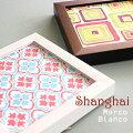 【上海】10cm角限定品ガラス入り落ち着いた大人のデザイン。。2色