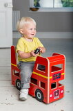 【送料無料】木製手押し車赤ちゃんイギリス直輸入ライド木のおもちゃ知育誕生日プレゼントKiddimotoキディモトロンドンバス